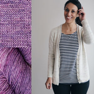 Madelinetosh Sweater Club - Amethyst - S, M (32.5, 36.5) inches