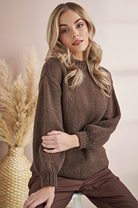 Rowan MODE at Rowan - Soft Boucle & Merino Aria Patterns - Crew Neck Sweater - PDF DOWNLOAD Pattern