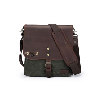 della Q Maker's Canvas Saddlebag - Olive