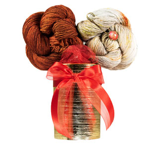 Jimmy Beans Wool Zarya Shawl Bouquet - Saffron/Tiny House