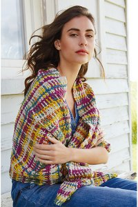 Rowan Softyak DK and Creative Linen Eshana Wrap  Kit - Crochet for Adults