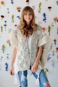 Knit Collage Starburst Cloud Poncho Kit - Women's Cardigans