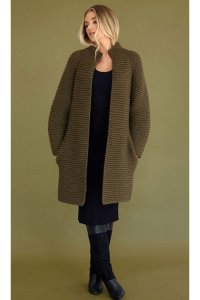 Rowan Big Wool Moss Coat Kit - Women's Cardigans