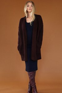 Rowan Brushed Fleece Chocolate Cardigan Kit - Women's Cardigans