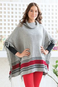Cascade 220 Superwash Aran Fistful of Fringe Poncho Kit - Women's Accessories