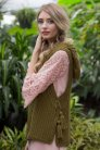 Cascade Yarns Venezia Worsted Vined Vest Kit