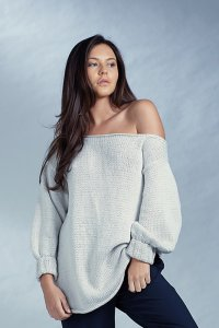 Rowan Selects Mako Cotton Off Shoulder Jumper Kit - Women's Pullovers
