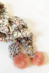 Knit Collage Wanderlust Pom Bomb Scarf Kit - Scarf and Shawls
