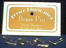 Bryson Distributing Pins - Brass Pin Stitch Markers (Small)