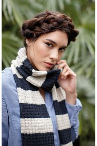 Rowan Selects Denim Lace Mustard Seed Scarf Kit - Scarf and Shawls