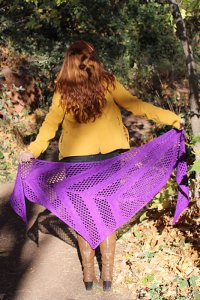 Anzula For Better or Worsted Royal Amethyst Shawl Kit - Scarf and Shawls