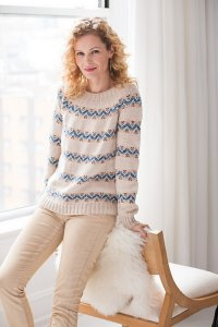 Plymouth DK Merino Superwash Fair Isle Band Pullover Kit - Women's Pullovers