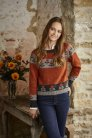 Rowan Valley Tweed Circle Flowers Sweater