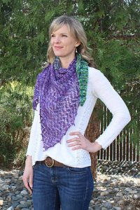 Lorna's Laces Shepherd Sock Garden Bed Shawl Kit - Scarf and Shawls