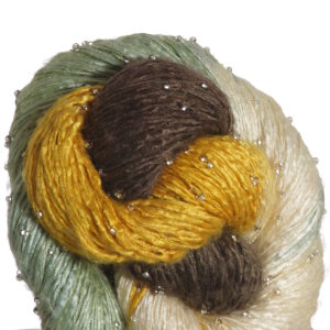 Artyarns Beaded Silk Yarn - 156 - Brown, Gold, Green, Ecru