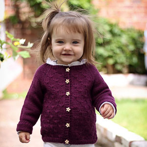 Blue Sky Fibers Skinny Cotton Dandelion Cardigan Kit - Baby and Kids Cardigans