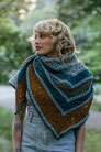 Blue Sky Fibers Woolstok The Golden Hour Shawl