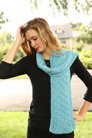 Plymouth Viento Cabled Cowl & Scarf Kit
