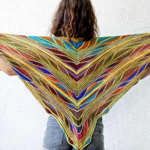 Urth Yarns Uneek Fingering and Malabrigo Sock Butterfly/Papillon Shawl Kit - Scarf and Shawls