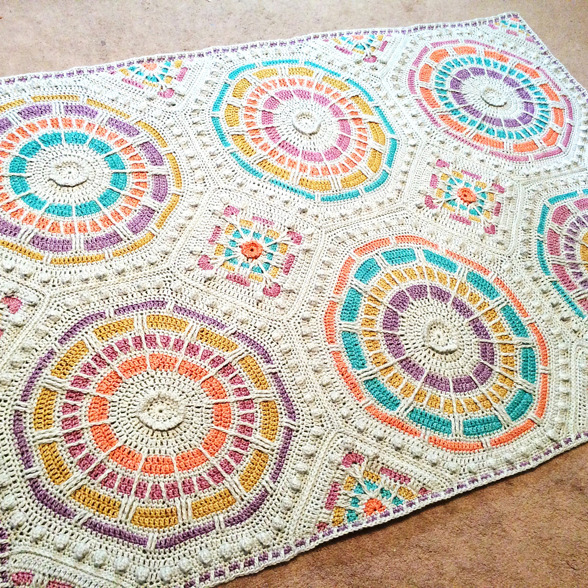 Scheepjes Stone Washed Xl Summer Mosaic Afghan Kit Crochet For