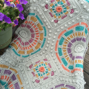 Scheepjes Stone Washed XL Summer Mosaic Afghan Kit - Crochet for Home