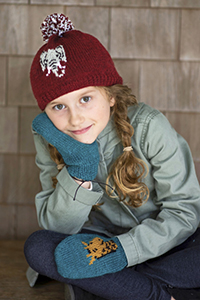 Berroco Ultra Wool Fossy Hat & Mittens Kit - Baby and Kids Accessories