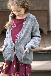 Berroco Ultra Wool Jemison Cardigan Kit - Baby and Kids Cardigans