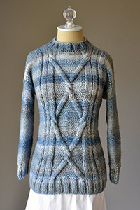 Universal Yarn Blue Heartstrings Pullover Kit - Women's Pullovers