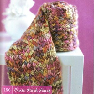 Manos del Uruguay Cross-Stitch Scarf Kit - Scarf and Shawls